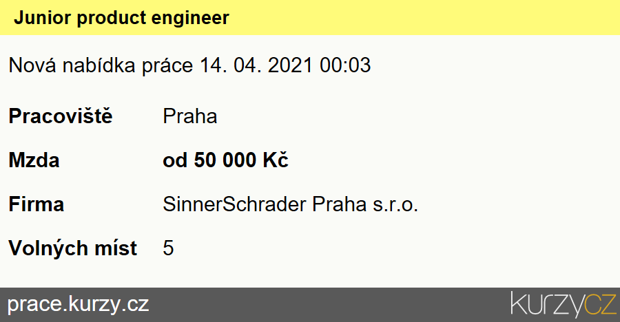 Junior product engineer, Vývojáři softwaru